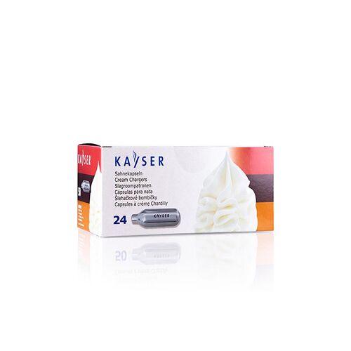 Einweg Sahnekapseln, für alle üblichen Systeme, Kayser, 24 St