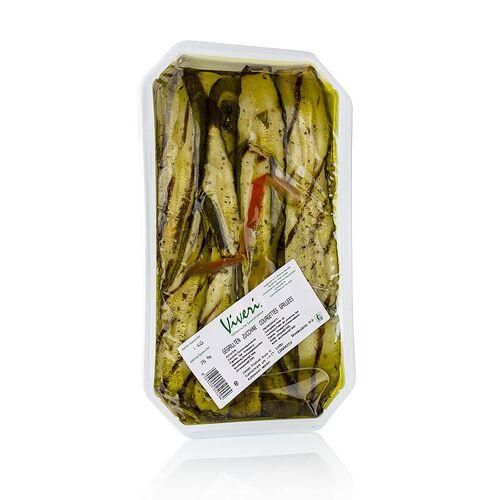 Eingelegte Zucchini, gegrillt, in Sonnenblumenöl, 1 kg