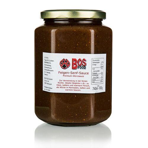 BOS FOOD Feigen-Senf-Sauce, eigene Kreation mit roten Feigen, 740 ml