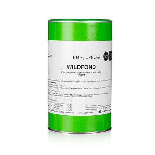 Wildfond, Instantpulver, ohne zugesetztes Glutamat, für 45 Liter, 1,35 kg