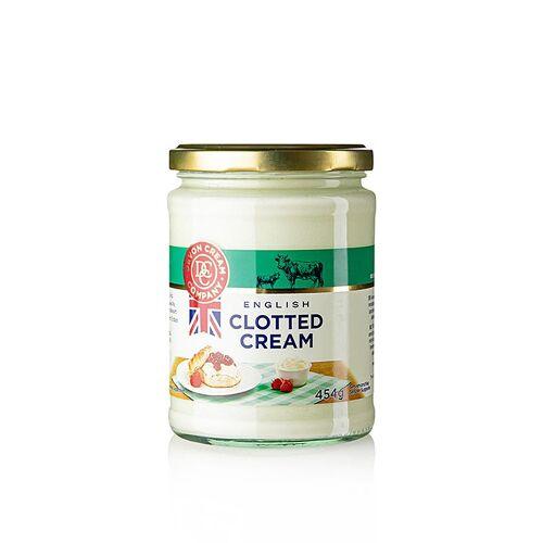 Englische Clotted Cream, feste Rahm-Creme, 55% Fett, 454 g