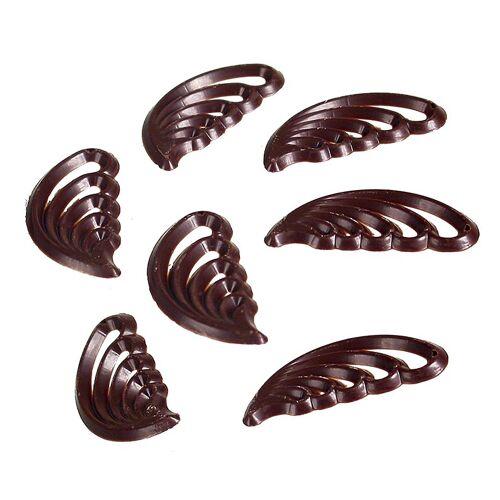 Filigrane Belle Decor - filigrane Kämmchen, dunkle Schokolade, 385 g, 280 St