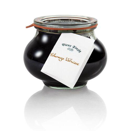 Schwarze Walnüsse, in Sirup, mit Gewürzen, Vieux Sinzig, 600 g