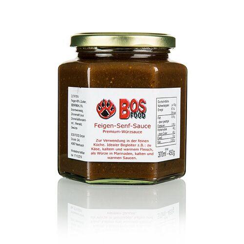 BOS FOOD Feigen-Senf-Sauce, eigene Kreation mit roten Feigen, 370 ml