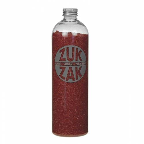 Farbiger Kristallzucker - ZUK ZAK, rot, 450 g