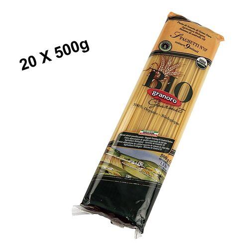Pasta Granoro, Spaghetti Vermicelloni No.12, 2mm, BIO, 10 kg, 20 x 500g