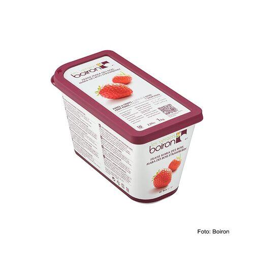 Püree - Erdbeere Mara des Bois, Sorte mit Walderdbeergeschmack, gezuckert, TK, 1 kg