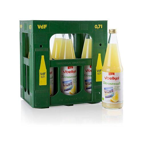 Zitronensaft, 100% Direktsaft, ungezuckert, Voelkel, BIO, 4,2 l, 6 x 700ml