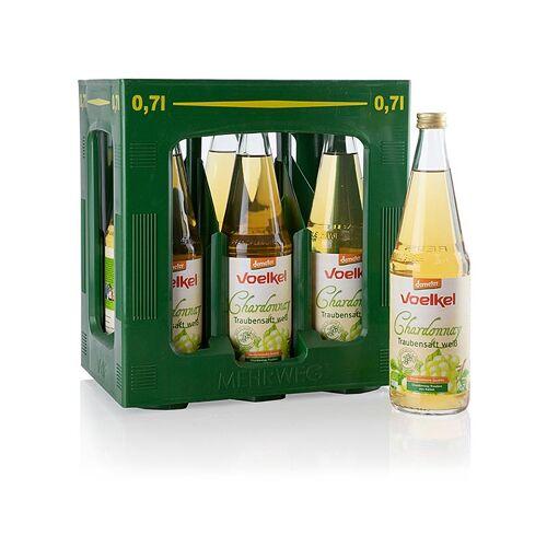 Chardonnay Traubensaft, hell, 100% Direktsaft, Voelkel, BIO, 6 x 0,7 l