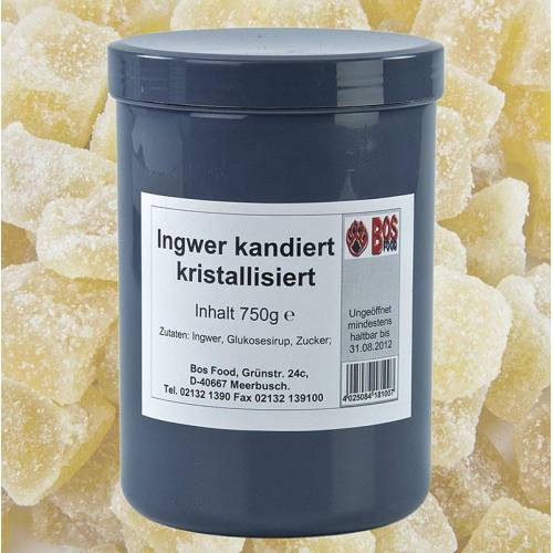 Ingwerwürfel, kandiert, trocken/ kristallisiert, 750 g