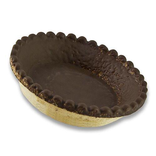 Dessert-Tartelettes, rund, ø 9cm, H 2cm, Mürbeteig/Schokoglasur, 3,96 kg, 120 St