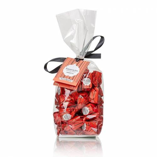 Mini Trüffelpralinen - Dolce d´Alba, Amaretto, mit Mandeln, ca. 7g, rot, 200 g