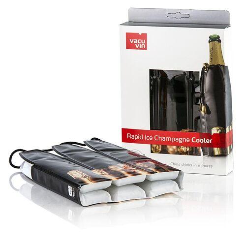 Vacu Vin Kühlmanschette für Sektflaschen, schwarz, 1 St