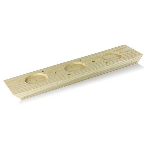 Stockbrot Halter, für 6 Brote, inkl. 3 Dipaussparungen ø 6cm, 40x10cm, 1 St