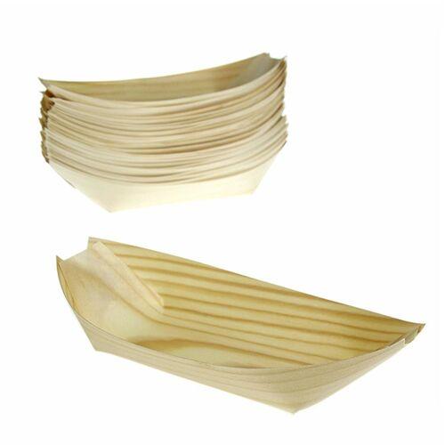 Einweg Boot aus Holz, ca. 22cm, hitzebeständig bis 180° C, 50 St