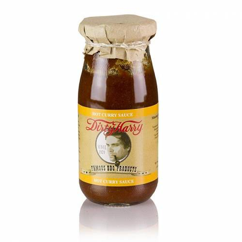 Dirty Harry´s Famous Hot Curry Sauce, BIO, vegan, 250 ml