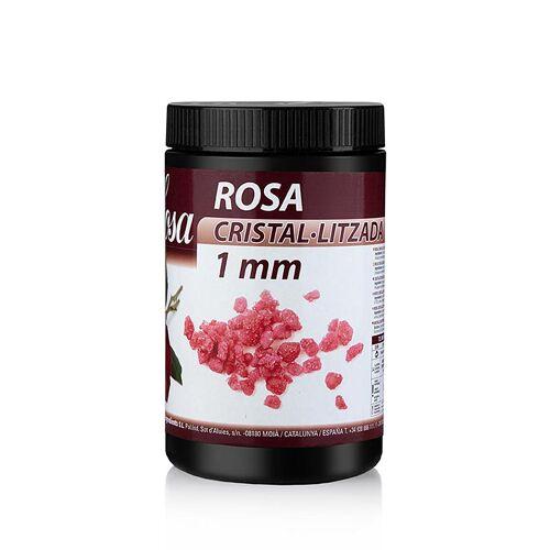 Kristallisierte Rosenblütenblätter, rot, 1mm Stücke, 500 g