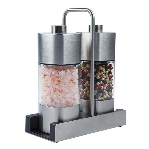 Menage mit Salz- und Pfeffermühle 140/65g, mit Keramik-Mahlwerk, 16,8cm, 205 g, 2 St