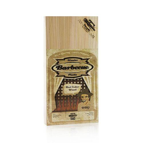 Grill BBQ - Wood Planks Grillbretter, Zedernholz (Red Cedar),15x30x1,1cm, 3 St