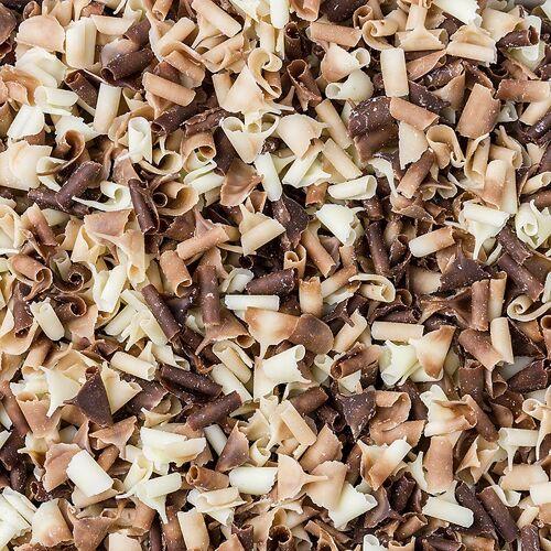 Blüte Duo, weiße und Vollmilch-Schokolade, 2,5 kg