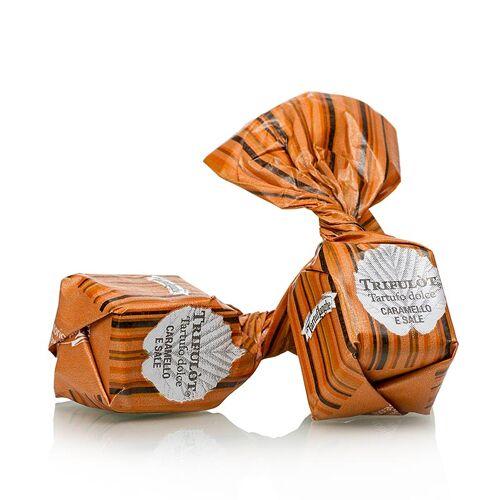 Mini Trüffelpralinen - Dolce d´Alba, Karamell/Guerande-Salz, ca. 7g, karamell, 1 kg