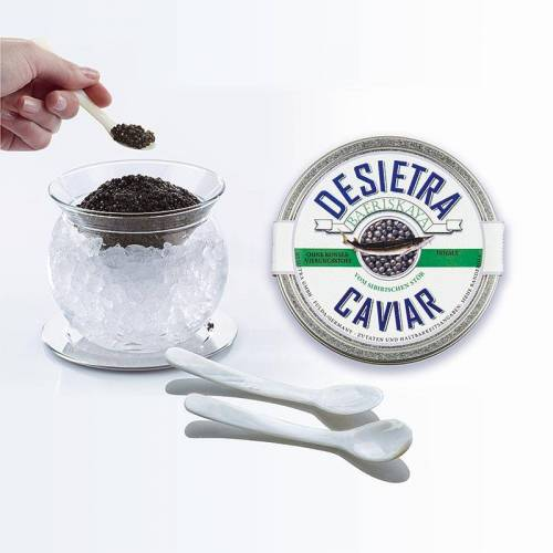 Kaviar Set Tour -  Baeriskaya Kaviar und 1 x Glaskaviarbowl (6 tlg.), 125 g, 6 tlg.