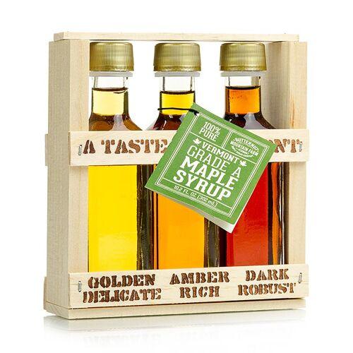 Ahornsirup Testbox Taste of Vermont (Golden, Amber, Dark), 300 ml, 3 x 100ml