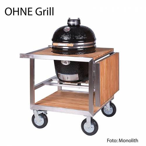 Monolith - Edelstahl Teak Buggy für Grill LE CHEF, 1 St