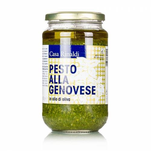 Pesto Genovese, vegan & laktosefrei (Basilikum-Sauce), Casa Rinaldi, 500 g