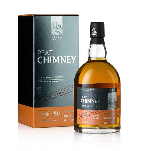 Blended Malt Whisky Wemyss, Peat Chimney, Fassstärke, 57% vol., Schottland, 700 ml