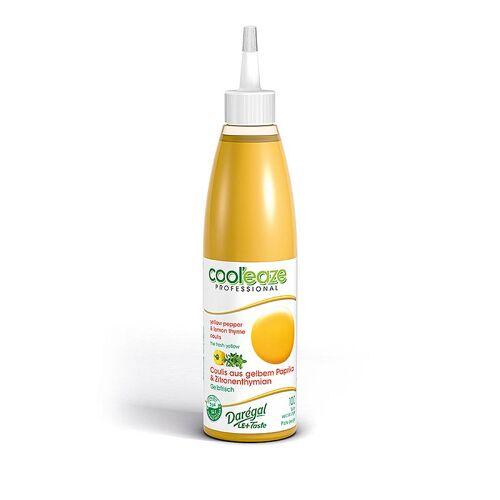 Coulis Gelbfrisch, aus gelber Paprika + Zitronen Thymian, DAREGAL, TK, 240 g