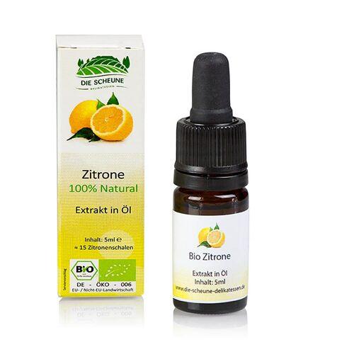 Natürliches Zitronen Aroma, Die Scheune, BIO, 5 ml