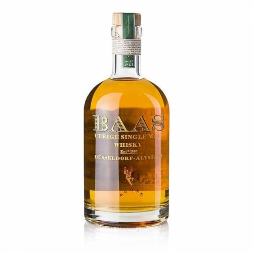 Single Malt Whisky Uerige Baas, 10 Jahre, Bourbon Fass, 46% vol., Düsseldorf, 500 ml