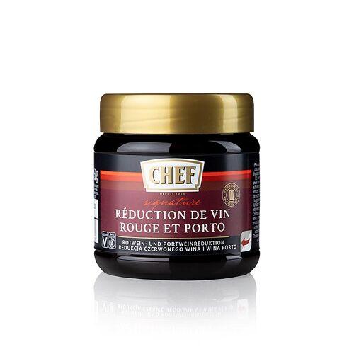 CHEF Premium Konzentrat - Rotwein & Portwein Reduktion, für ca.12 Liter, 450 g