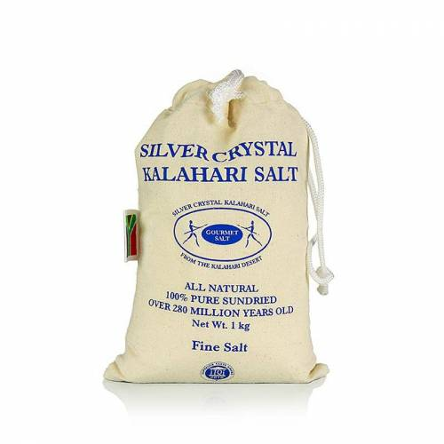 Silver Crystal Salz aus der Kalahari, fein, 1 kg