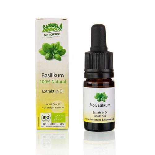 Natürliches Basilikum Aroma, Die Scheune, BIO, 5 ml