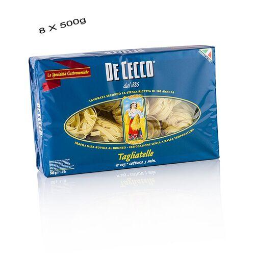 De Cecco Tagliatelle, No.203, 4 kg, 8 x 500g