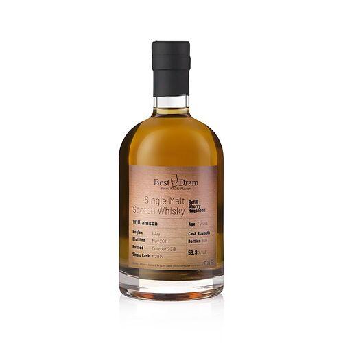 Single Malt Whisky Williamson, 7 J., Refill Sherry Best Dram, 59,9% vol., Islay, 700 ml