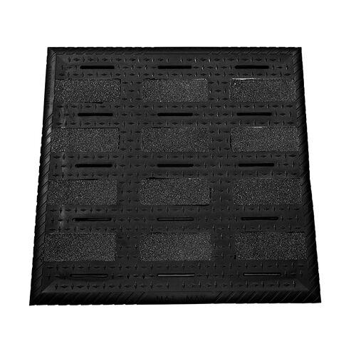 Turbo Clean Basis Gummimatte, 75 x 75cm, als Unterlage für Bodenmatten, 1 St