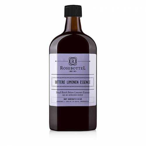 Rosebottel Bitter Lemon Essence (Essenz) Sirup, 500 ml