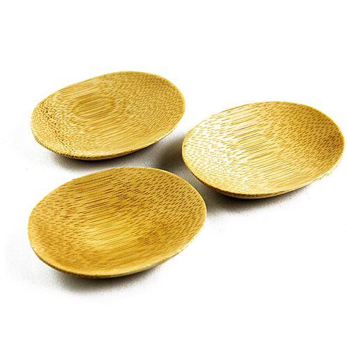 Mehrweg Bambusschale braun, oval, 7,7x6,3cm, spülmaschinenfest, 25 St