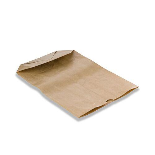 Kreuzbodenbeutel, Papier, braun, 28x19x7cm, 500 St