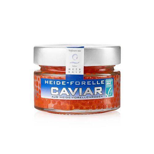 Heide Forellen Kaviar, mit Sylter Meersalz, orange-rot, ASC, 100 g