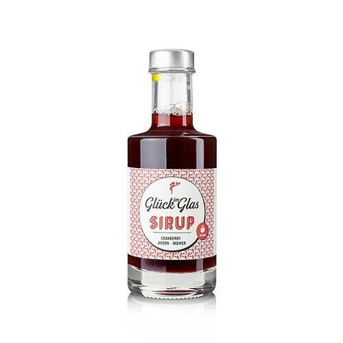Glück im Glas - Cranberry Ahorn Ingwer Sirup, 200 ml
