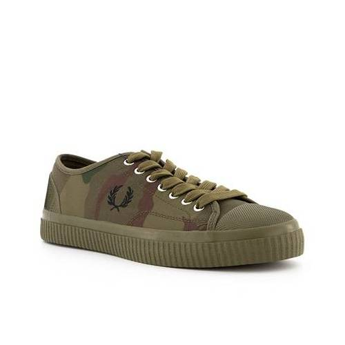 Fred Perry Schuhe Camoflage Hughes Low B5168/H46 grün7