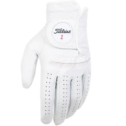 Titleist Permasoft 2020 Golf-Handschuhe Herren   LH pearl weiß S