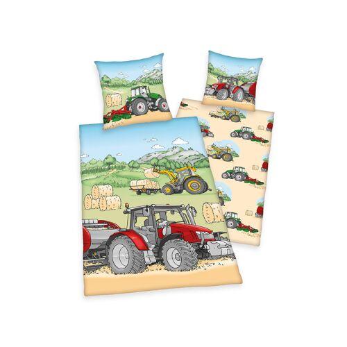 Herding baby best Traktor, Renforcé, GOTS