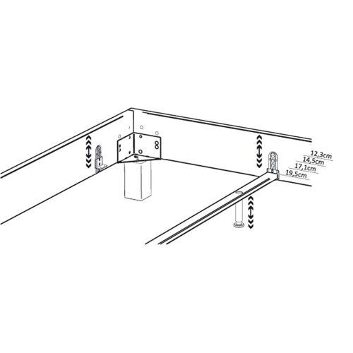 HASENA Midtraver-move für verstellbare Einlegetiefe