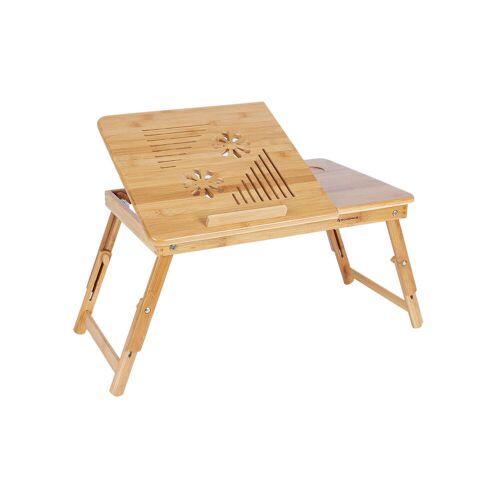 SONGMICS Verstellbarer Laptoptisch Bambus