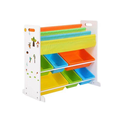 SONGMICS Kinderregal für Spielzeug & Bücher